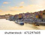 overview of beautiful porto...   Shutterstock . vector #671297605