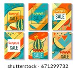 color trendy vector set of... | Shutterstock .eps vector #671299732