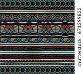 geometric ethnic oriental... | Shutterstock .eps vector #671299822
