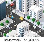 isometric illustration... | Shutterstock .eps vector #671301772