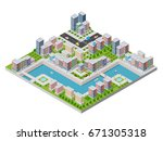 isometric illustration of a... | Shutterstock .eps vector #671305318