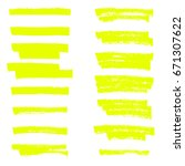 vector highlighter brush lines. ... | Shutterstock .eps vector #671307622