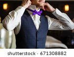 butterfly of violet color on a...   Shutterstock . vector #671308882