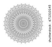 floral mandala  vector... | Shutterstock .eps vector #671310145