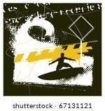 surf banner scene and grunge... | Shutterstock .eps vector #67131121
