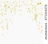 many falling golden tiny... | Shutterstock .eps vector #671314276