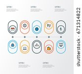 job colorful outline icons set. ... | Shutterstock .eps vector #671314822