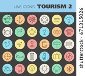 trendy line icons   tourism... | Shutterstock .eps vector #671315026