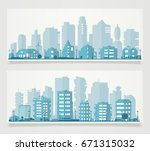 paper material style ecological ... | Shutterstock .eps vector #671315032