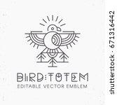 flying bird logo design ... | Shutterstock .eps vector #671316442