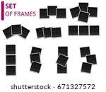 set of photo frames  templates | Shutterstock .eps vector #671327572