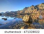 Winter Landscape Of Lake Sils...