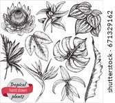 vector collection of hand drawn ... | Shutterstock .eps vector #671329162
