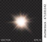 starburst vector  transparent... | Shutterstock .eps vector #671331142