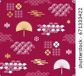 decorative seamless tribal ...   Shutterstock .eps vector #671333422
