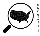 map usa vector | Shutterstock .eps vector #671334592