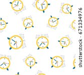 Alarm Clock Seamless Pattern...