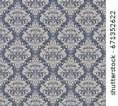 seamless background baroque... | Shutterstock .eps vector #671352622