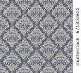 seamless background baroque... | Shutterstock .eps vector #671352622