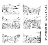 remarkable georgian landscapes... | Shutterstock .eps vector #671357158