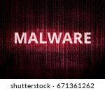 text malware on background with ... | Shutterstock .eps vector #671361262