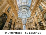 milan  italy   march '17  ... | Shutterstock . vector #671365498