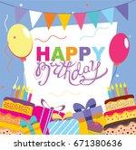 happy birthday vector card.