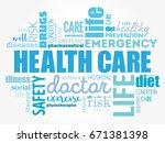 healthcare word cloud collage ...   Shutterstock . vector #671381398