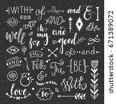 catchwords and ampersands hand...   Shutterstock .eps vector #671389072