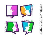 vector collection of talking ... | Shutterstock .eps vector #671389678