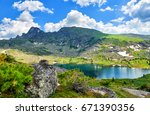 Carous Lake In Mountains Of...