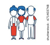 people family member together... | Shutterstock .eps vector #671403748