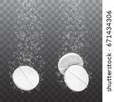 medicine tablet pills with...   Shutterstock .eps vector #671434306