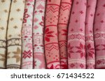 knits or knitted collection... | Shutterstock . vector #671434522