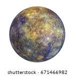 Planet Mercury Isolated. 3d...