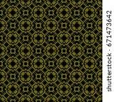 vintage pattern graphic design | Shutterstock .eps vector #671473642
