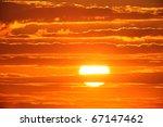Scenic Orange Sunset Sky...