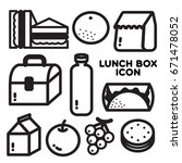 lunch box icon popular menu and ... | Shutterstock .eps vector #671478052