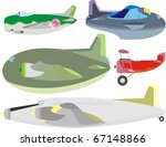 cargo  passenger and fighter... | Shutterstock .eps vector #67148866