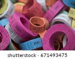 raffle tickets | Shutterstock . vector #671493475