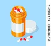 Pill Bottle. Medical Capsules...