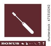 screwdriver icon flat. white...