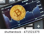 bitcoin crypto currency diagram | Shutterstock . vector #671521375