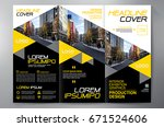 business brochure. flyer design....   Shutterstock .eps vector #671524606