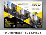 business brochure. flyer design.... | Shutterstock .eps vector #671524615