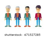 men vector flat design | Shutterstock .eps vector #671527285