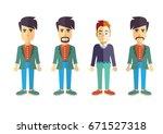 men vector flat design | Shutterstock .eps vector #671527318