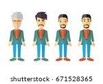 men vector flat design icons | Shutterstock .eps vector #671528365