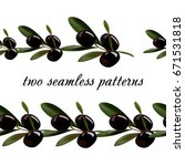 seamless pattern from olives.   Shutterstock .eps vector #671531818