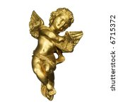 Golden Sculpture Of An Angel...
